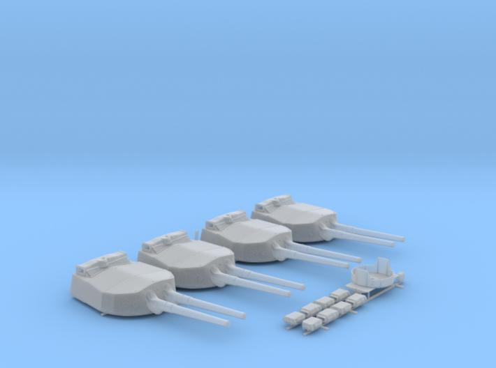 "1/192 HMS Hood 15"" Mark II Turrets 1941 B. Bags 3d printed 1/192 HMS Hood 15"" Mark II Turrets 1941 B. Bags"