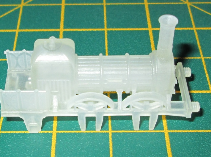 N Gauge Lion (Titfield Thunderbolt) Loco 3d printed An unpainted FED engine print