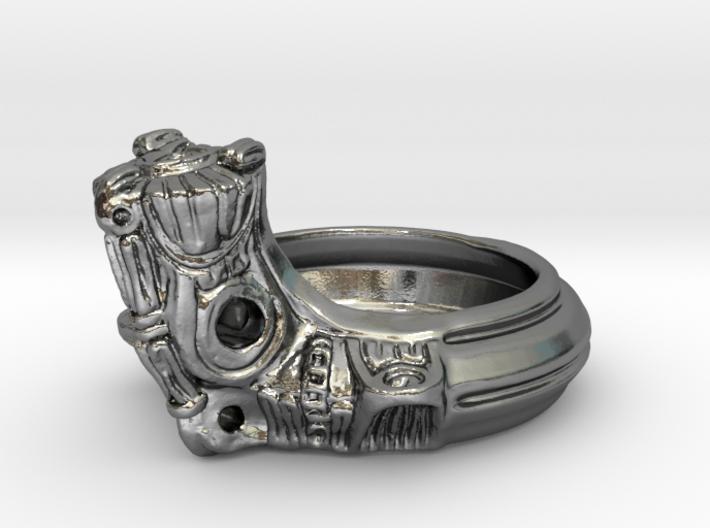 Jomon style ring 3d printed