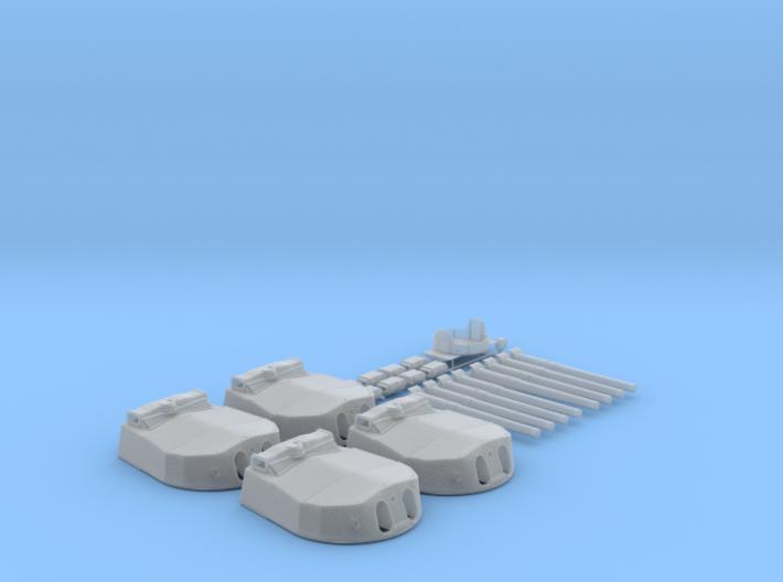 "1/144 HMS Hood 15"" (38.1 cm) Mark II Turrets 1941 3d printed 1/144 HMS Hood 15"" (38.1 cm) Mark II Turrets 1941"