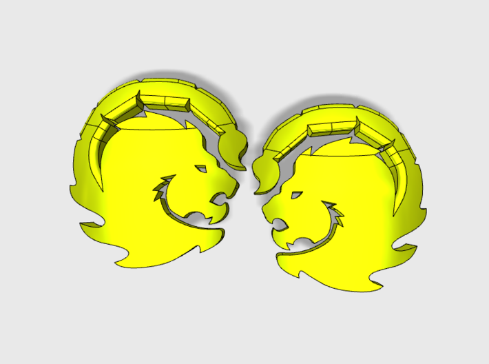 60x Manticores : Right & Left Shoulder Insignia pa 3d printed 30 of each