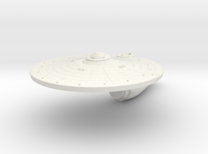 Enterprise A Hull  1/1400 scale 3d printed