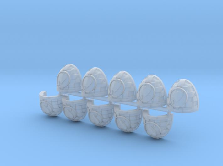 Bloodied Heart Cuad Shoulder Pads Mk7/8 L x10 3d printed