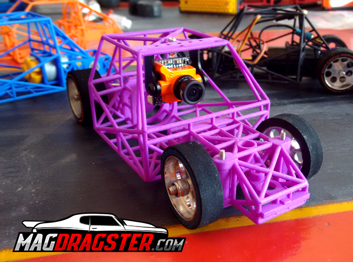 MagDragster [MD-Golf01] RC Car / MagRacing Car 3d printed MagDragster & RunCam FPV Camera