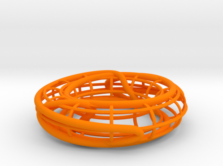 Prime Knot 8_15 on a Torus 3d printed