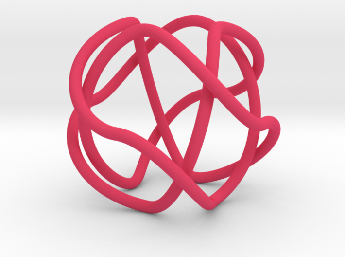 2-Fold Cover of the 2-Butterfly Trefoil 3d printed