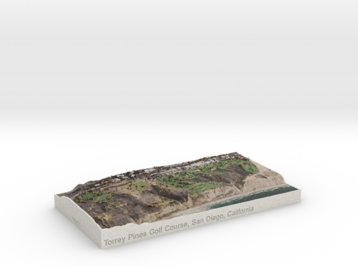 Torrey Pines Golf Course, California, USA, 1:20000 3d printed