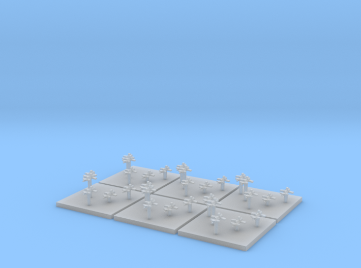 Navy Fighters (6) (Tall) 3d printed