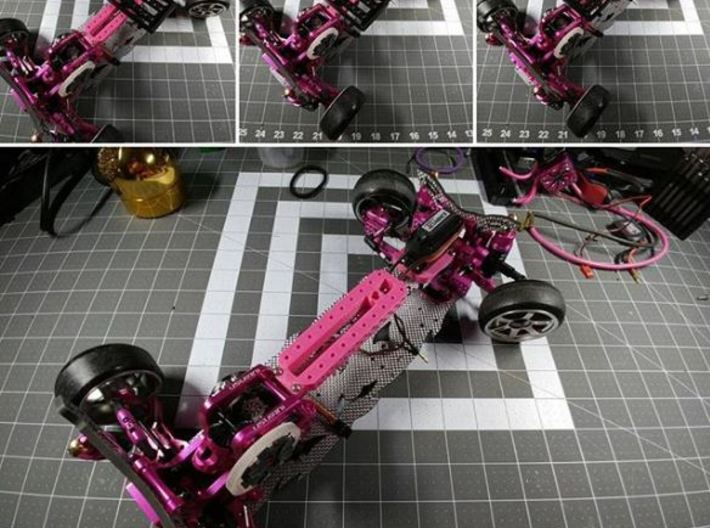 3RACING D4 WEIGHT SHIFT FRAME 3d printed