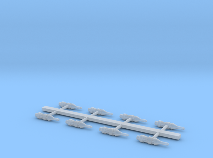 Small ship cannons style 7 pack 270th 3d printed