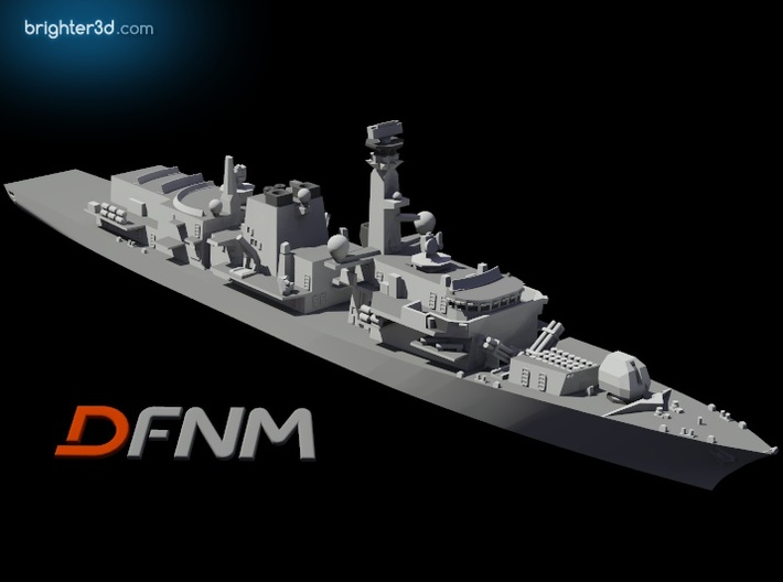 Type 23 Frigate 3d printed