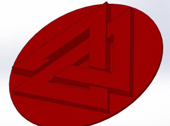 "Valknut Wax Seal 3d printed What the wax will look like (about 3/4"" diameter)"