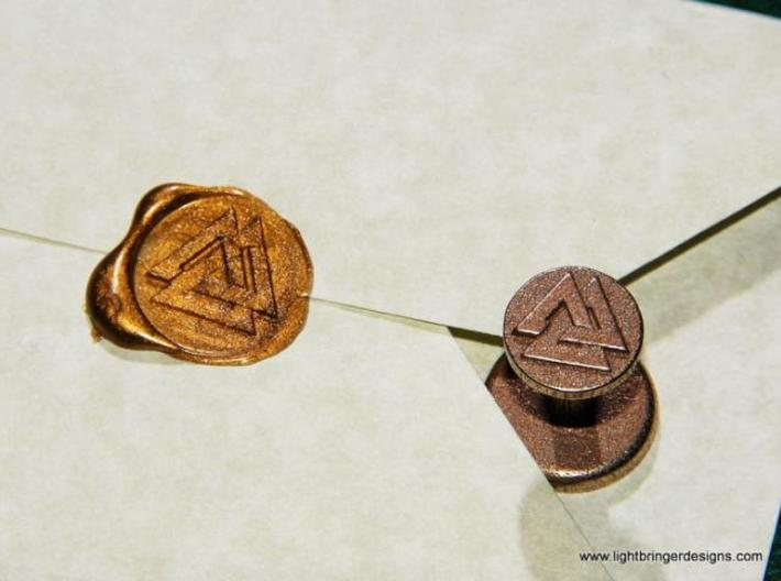 Valknut Wax Seal 3d printed