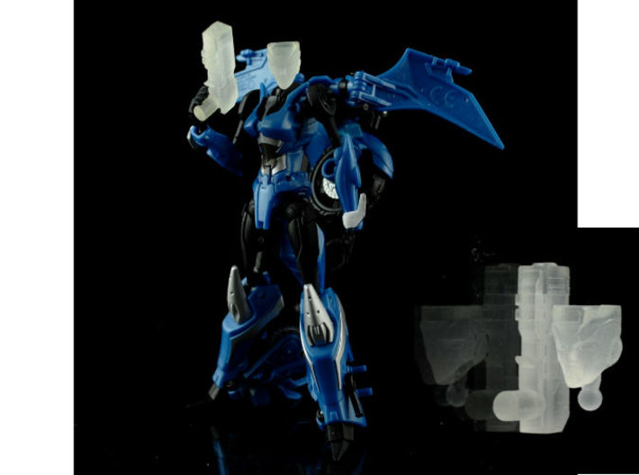 CHROMIA homage Tempest Set for RID 3d printed Tempest Set Frosted Ultra Detail on Deluxe TF Prime Arcee