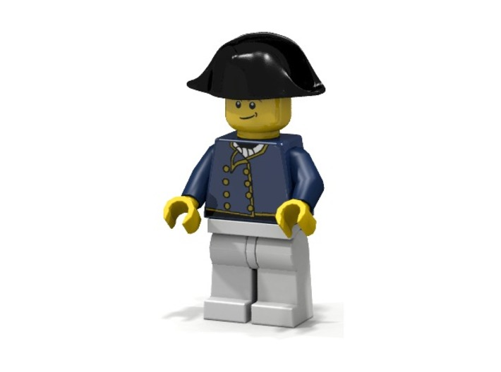 British Navy Bicorne 3d printed British Marine Captain (Render of an example Usage)