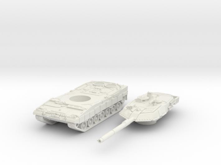 leopard 2A6 scale 1/100 3d printed