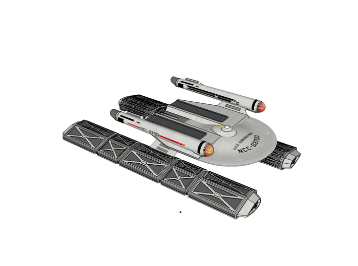 Class III Nuetronic Fuel Carrier Nacelles (Part #2 3d printed Computer render of completed model