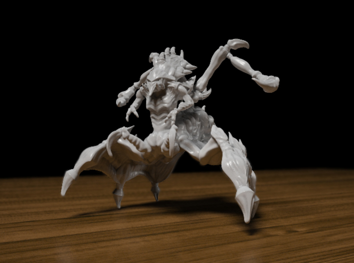Queen 38mm 3d printed Zerg Queen 38mm Figurine