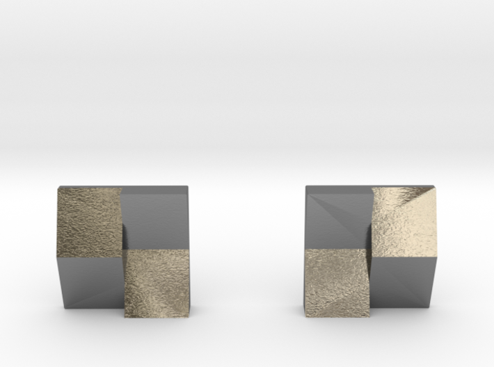 Chequered Earrings 3d printed