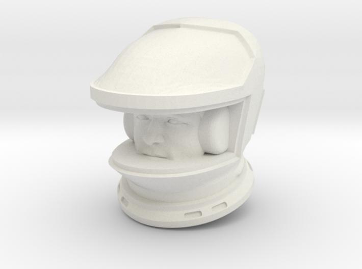 2001 Lunar Astronaut / Helmet/Face / 1:24 /1:16 3d printed