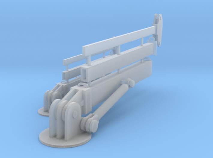 Hydraulic Crane Booms Z scale 3d printed