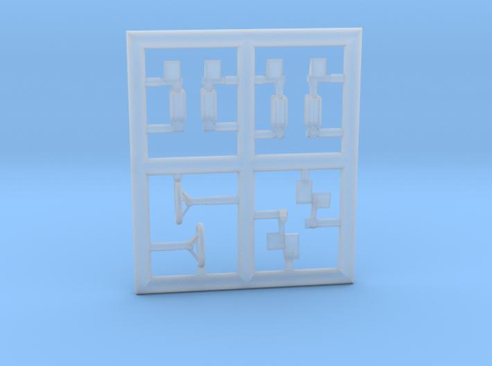 LEKTRO-144Scale-5-PartFret 3d printed