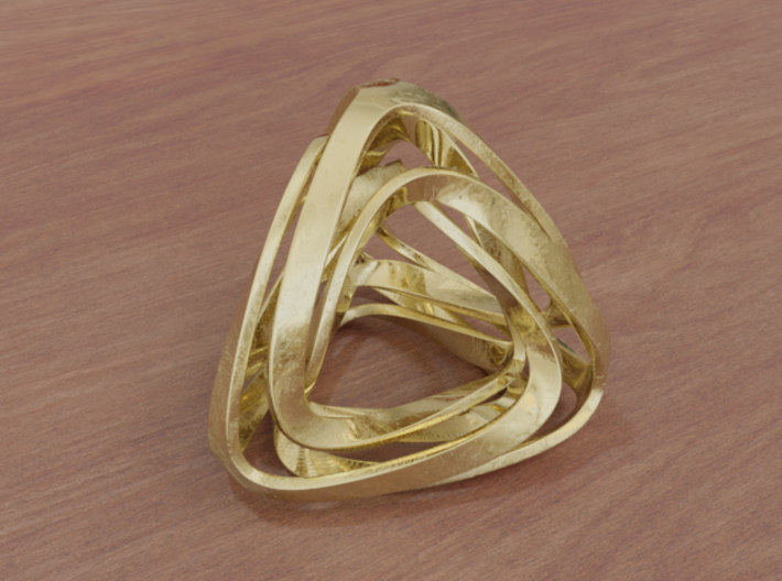 Twisted Tetrahedron (Thin) 3d printed
