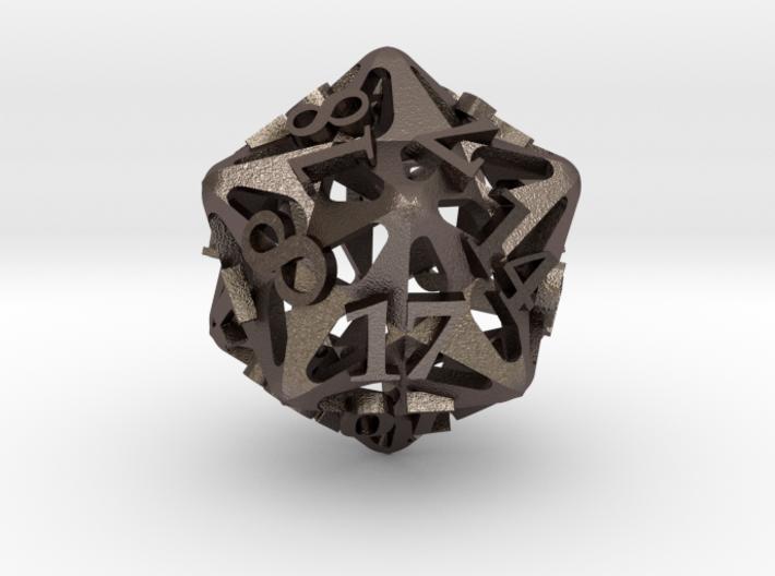 Pinwheel d20 3d printed