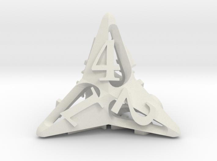 Pinwheel Die4 Ornament 3d printed