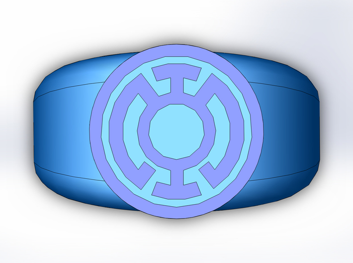 Blue Lantern Ring 3d printed