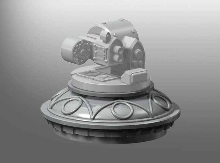 Rhinoceros Weapon Dome 3d printed Weapon not included