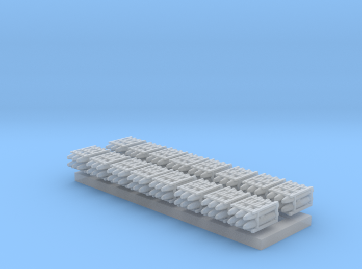 1:350 Scale Mk 84 Bomb Pallets 3d printed