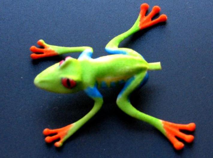 Jumping Tree Frog 3d printed I colored the print with markers.