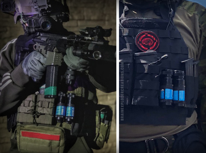 Molle Adapter Compatible with Airsoft Burst XL 3d printed