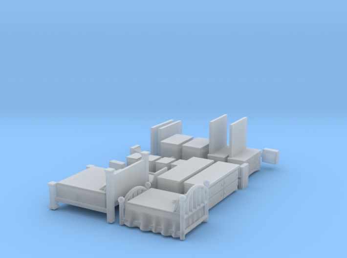 Large Bedroom Set TT Scale 3d printed