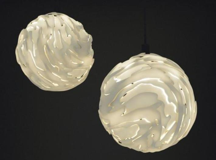 Flo Hanging Light Shade Small 3d printed
