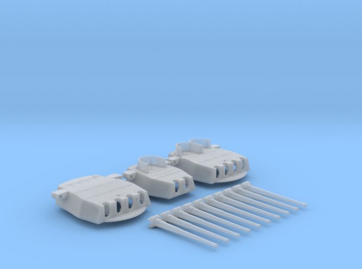 "1/400 HMS King George V 14"" MKVII Guns 1941 3d printed"