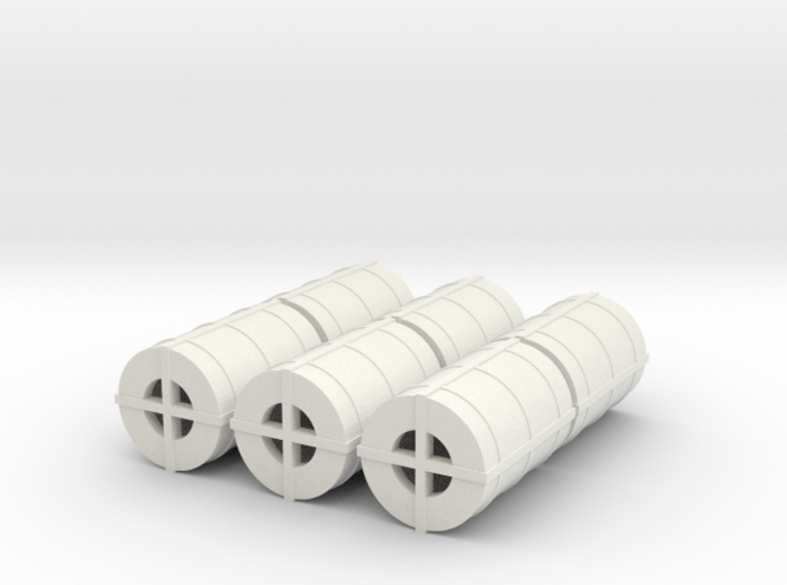 OO Gauge Steel Coil pack of 6 3d printed