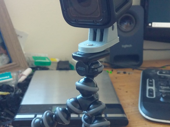 Go Pro Camera Screw Hole Adapter For Tripods & Mou 3d printed