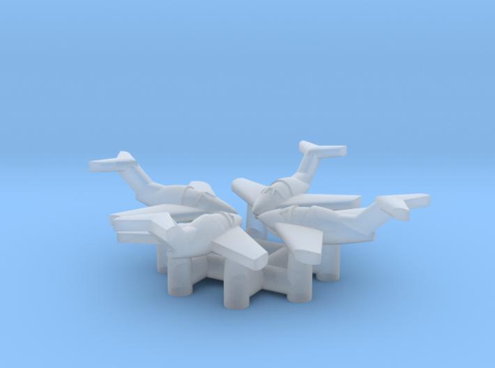"(1:700) (x4) Focke-Wulf ""Volksjäger"" 3d printed"