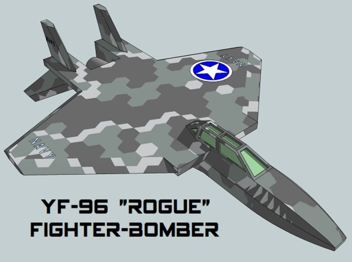 3mm Sci-Fi Fighter-Bombers (8pcs) 3d printed
