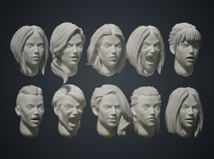 Warfaces2 - Caucasian Female 3d printed