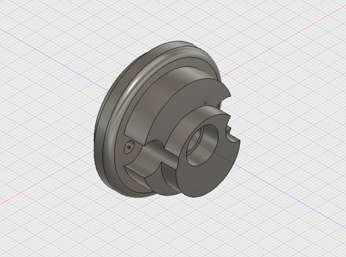 E-11 PIPE BLASTER FRONT CAP 3d printed