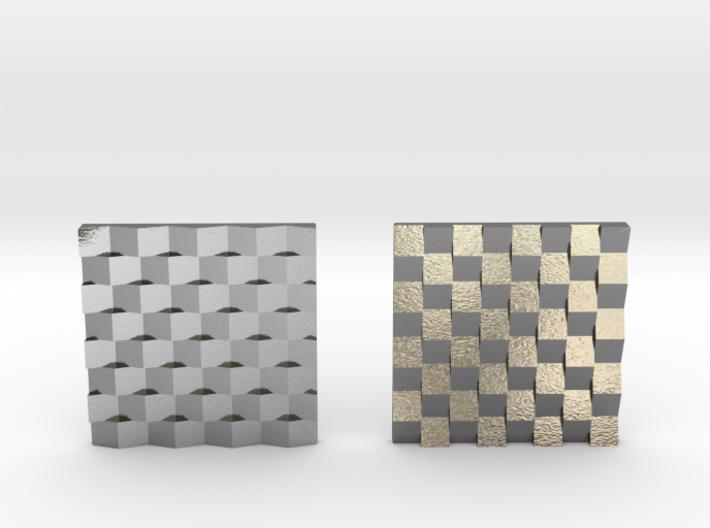 Chessboard Earrings 3d printed