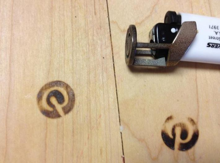 Pin It Branding Iron for BIC Lighters 3d printed