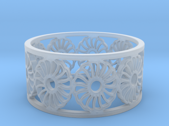 Chrysanthemum Ring Design Ring Size 8.25 3d printed