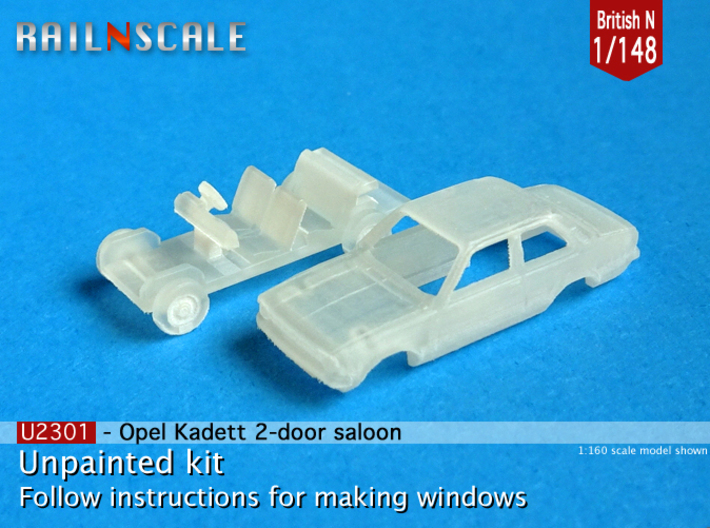Opel Kadett 2 door saloon (British N 1:148) 3d printed