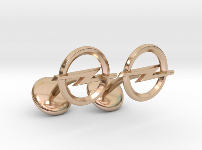 Opel Cufflinks 3d printed