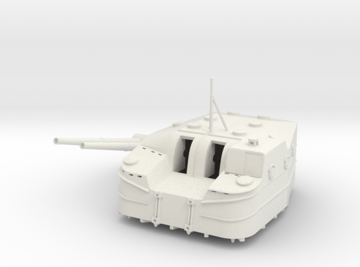 Best Cost 1/96 IJN Type 3 127mm 50cal naval gun 3d printed