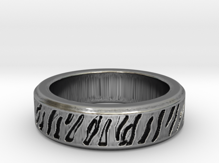 Tiger stripe ring multiple sizes 3d printed
